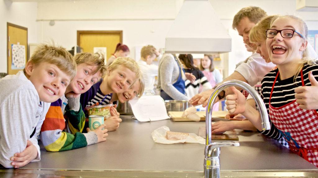 Spennede dag på skolekjøkkenet